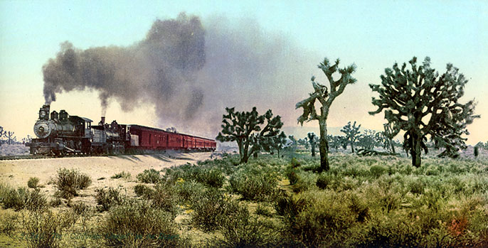 "#51245 ""The California Limited"", on the Desert, 1901"