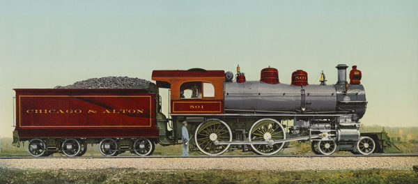 #50111 Chicago and Alton Train Car 8x20 $2800 SOLD OUT