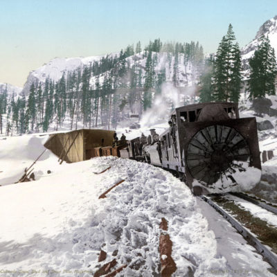 #53131 Colorado. Snow Shed and Snow Plow, Hagerman Pass,Leadvile, CO 7x9 - $750