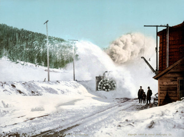 Colorado, Snow Plow on the Midland R.R., Hagerman Pass, Leadville, CO, 1899, 7x9–# 53132